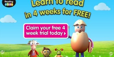 4 Weeks free trial with ABC Reading Eggs online reading program