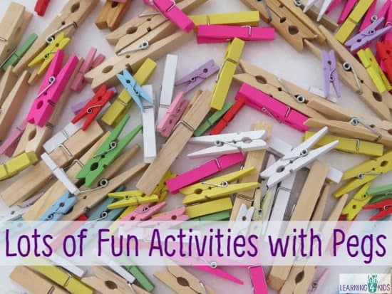 Activities for kids and toddlers with pegs