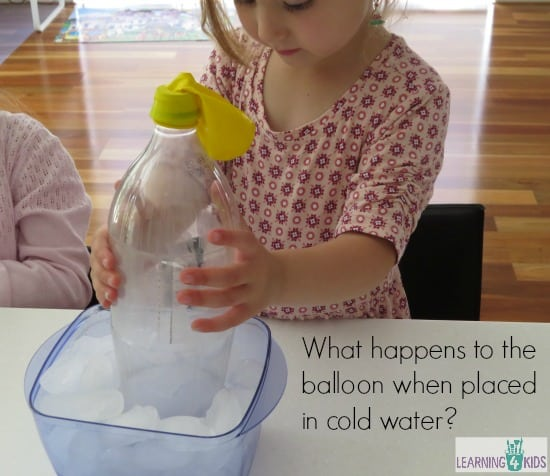 Cooling air. fun science activity for kids