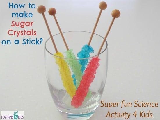 how to make sugar crystals on a stick learning 4 kids. Black Bedroom Furniture Sets. Home Design Ideas