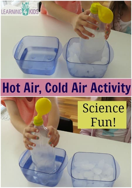 Science Activity Hot Air Cold Air Experiment