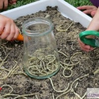 Sensory Play Ideas for Kids and Toddlers- Digging for Spaghetti Worms