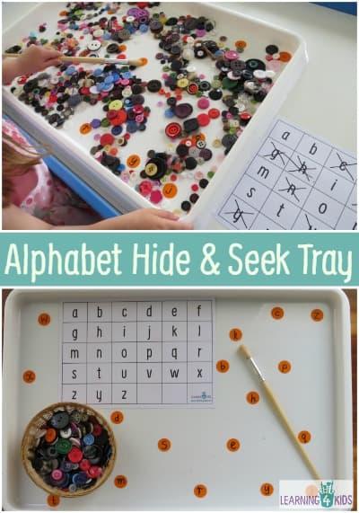 Hide Seek Kids: List Of Alphabet Activities
