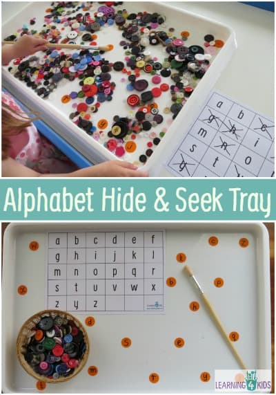 Alphabet Games - Hide and Seek Tray