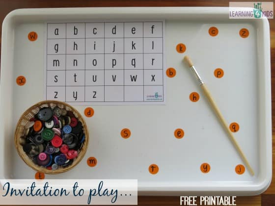 Alphabet Hide and Seek Game