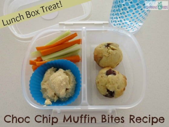 Choc Chip Muffin Bites Recipe - simple snack idea of lunch box treat