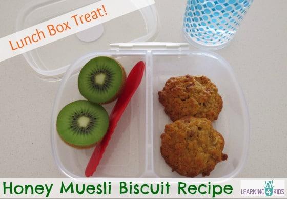 Lunch Box Ideas Honey Muesli Biscuit Recipe