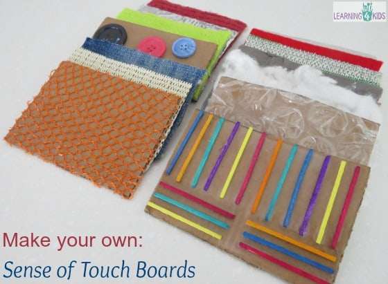Make your own sense of touch boards