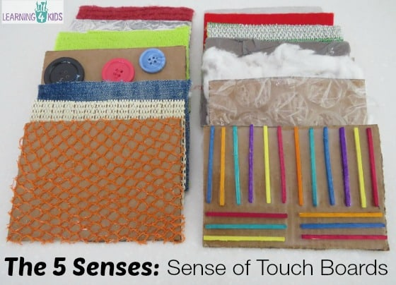 The 5 Senses - Sense of Touch Boards