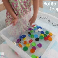 Bottle Top Soup Game - Catch and Scoop the Bottle Tops