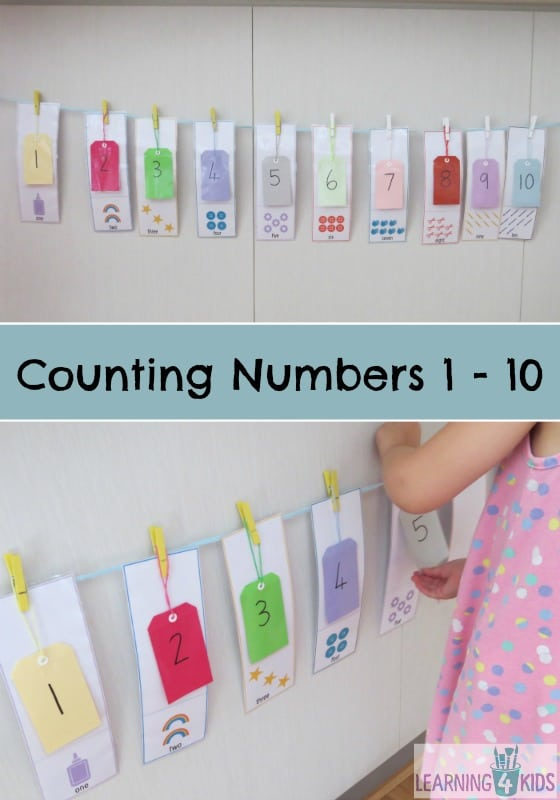 Counting Numbers 1-10 Activity   Learning 4 Kids