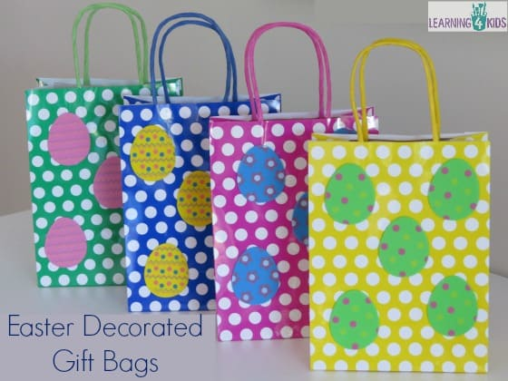 Simple easter gift ideas learning 4 kids cute easter gift bags negle Image collections