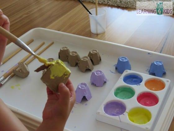 Preschool Art Easter Basket : Egg carton easter basket craft learning kids