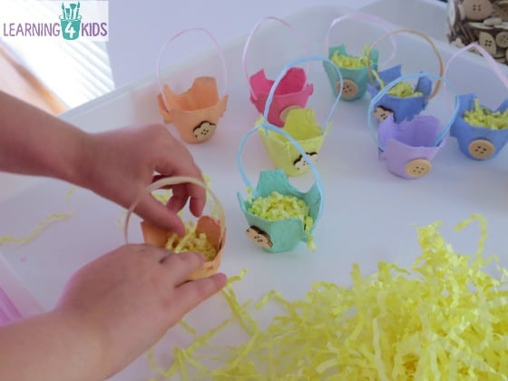 Egg Carton Easter Basket Craft