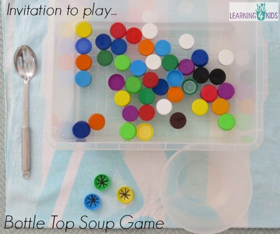 Invitation to play Bottle Top Soup Game