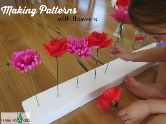 Making patterns with flowers