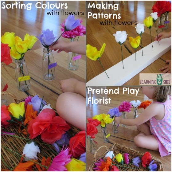 Many ways to play with fake flowers