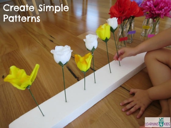 Maths concepts - create simple patterns