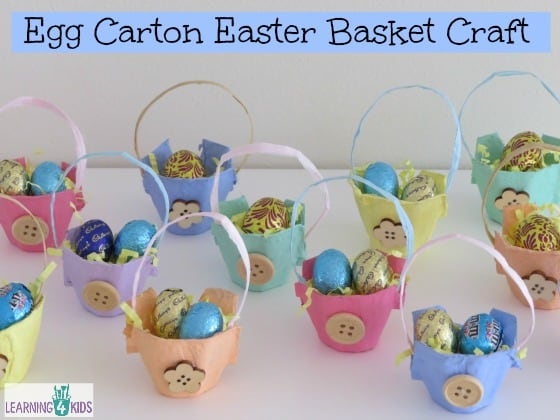 Miniature Egg Carton Easter Basket Craft