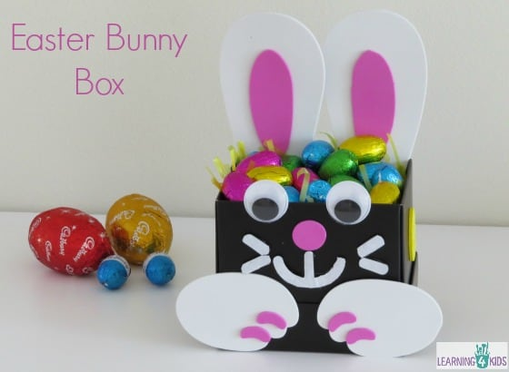 Simple easter gift ideas learning 4 kids simple craft easter bunny gift box negle Image collections