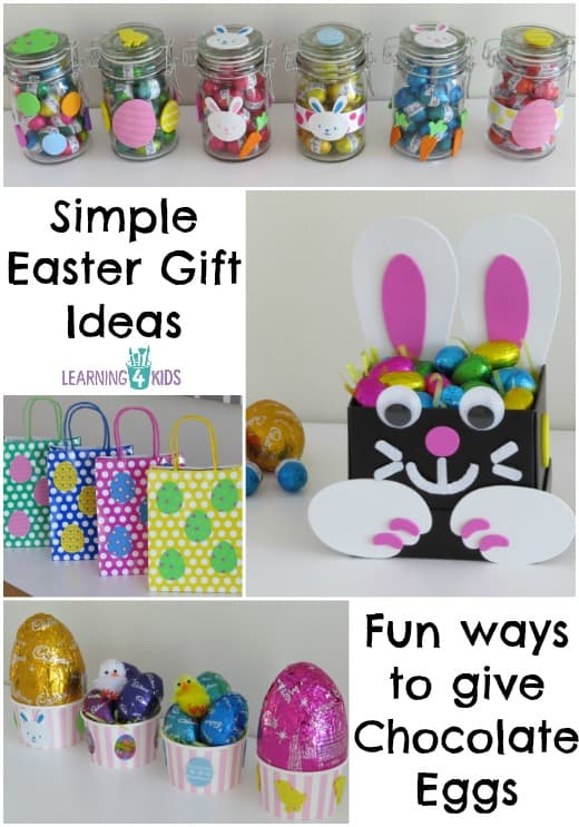 Simple Easter Gift Ideas - Fun Ways to give Chocolate Easter Eggs