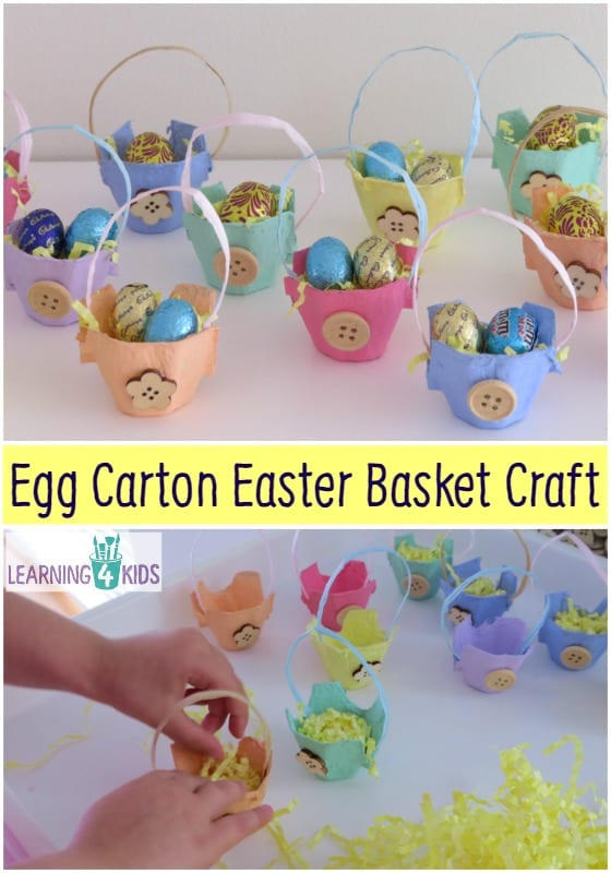Egg carton easter basket craft learning 4 kids - Easter basket craft ideas ...