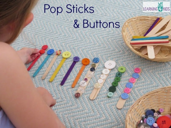So many ways to play with pop sticks and buttons