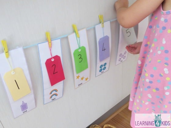 Teaching numbers 1 - 10 - learning activity
