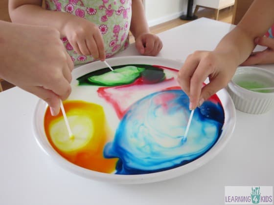 Colour changing science experiment for kids