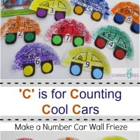 Make a Number Car Wall Frieze - C is for Counting Cool Cars by Learning 4 Kids