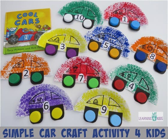 Car Craft Activity Kids on Vehicle Worksheets For Pre