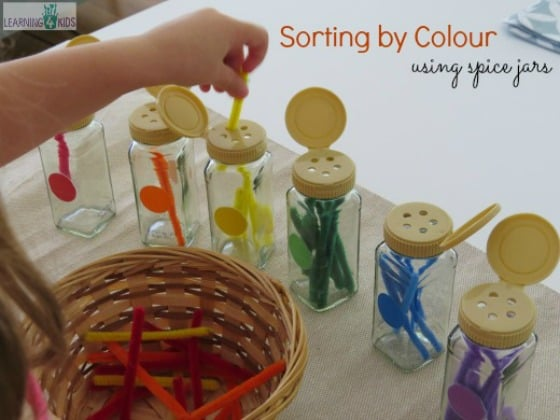Fine Motor Skills Sorting By Colour Learning 4 Kids