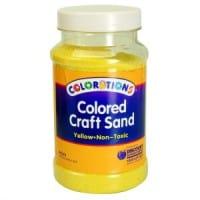 Yellow Coloured Craft Sand