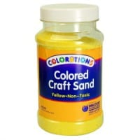 Yellow Coloured Craft Sand