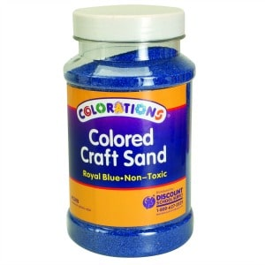 Royal Blue Coloured Craft Sand