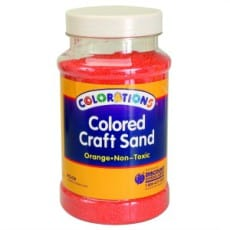 Orange Coloured Craft Sand