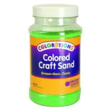 Colorations® Craft Sand Jar 630g Green