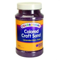 Lavender Coloured Craft Sand