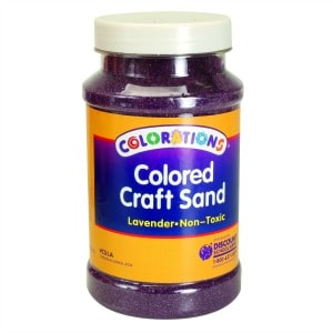 Lavender Coloured Craft Sand