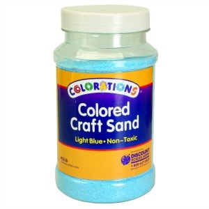 Light Blue Coloured Craft Sand