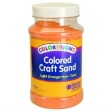 Light Orange Coloured Craft Sand