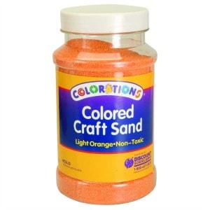 Light Orange Coloured Craft Sand
