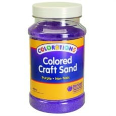 Purple Coloured Craft Sand