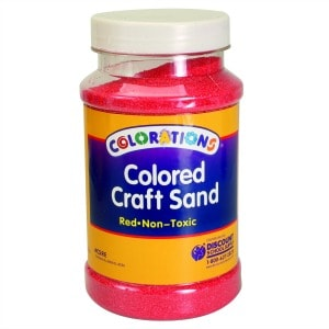 Red Coloured Craft Sand