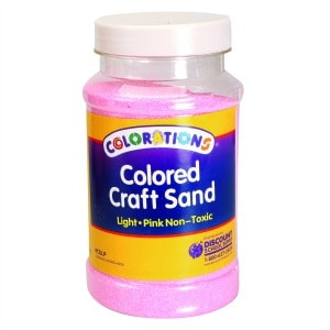 Light Pink Coloured Craft Sand