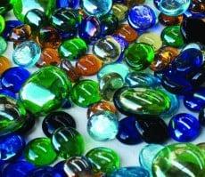 Assorted Glass Gems 500g