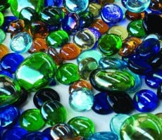 Assorted Glass Gems 500g
