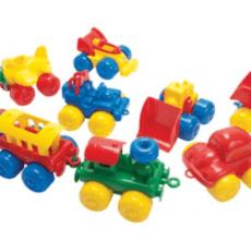 Dantoy Bubble Vehicles Set of 9