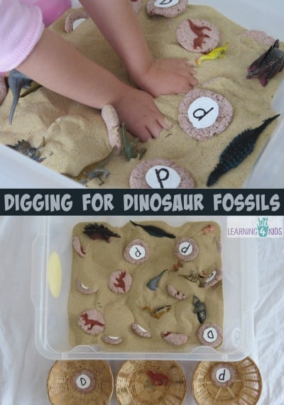 Digging for Dinosaur Fossils by learning 4 kids