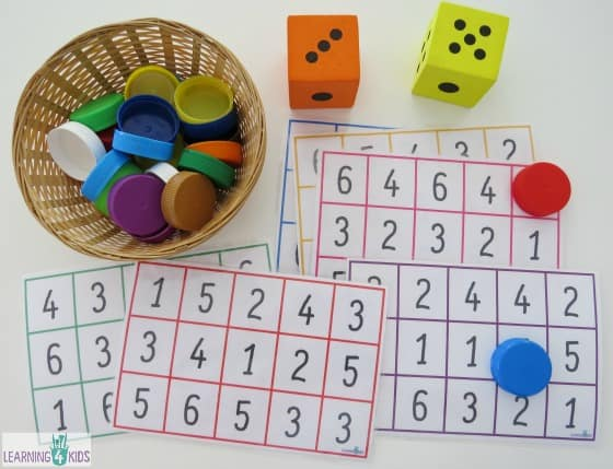 Free printable number bingo boards
